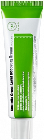 Purito~Успокаивающий крем для восстановления кожи с центеллой~Centella Green Level Recovery Cream