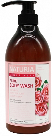 EVAS NATURIA~Гель для душа с розой и розмарином~PURE BODY WASH (Rose& Rosemary)