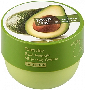 FarmStay~Крем для лица и тела с маслом авокадо~Real Avocado All-in-One Cream